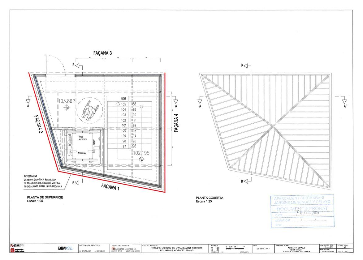 Proyecto ejecutivo del aparcamiento subterráneo en Jardines Menéndez Pelayo