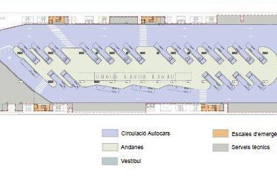 Proyecto constructivo de la nueva estación de autobuses sobre la estación del AVE en Girona